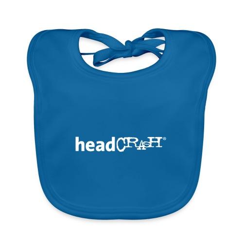 headCRASH Logo white - Baby Bio-Lätzchen