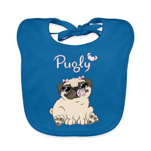 Bella Pug - Ekologisk babyhaklapp