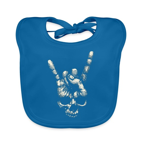 Mano Skull - Babero de algodón orgánico para bebés