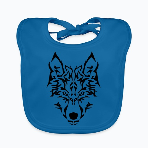 Tribal Wolf - Bavoir bio Bébé