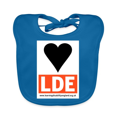 I Love Learning Disability England - Baby Organic Bib