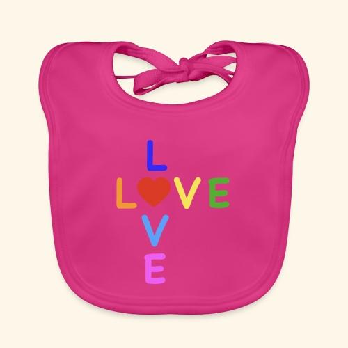 Rainbow Love. Regenbogen Liebe - Baby Bio-Lätzchen