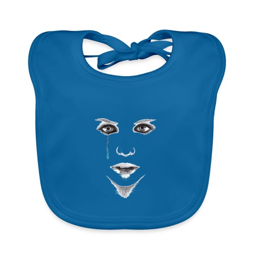 Blue tear - Bavoir bio Bébé