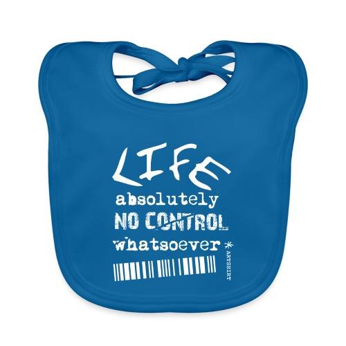 life no control tekst wit - Bio-slabbetje voor baby's