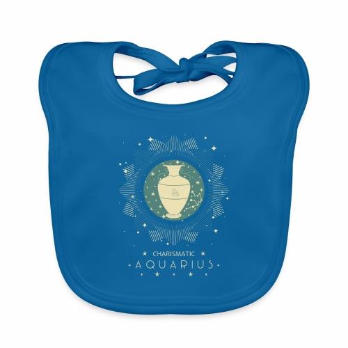 Sternzeichen Wassermann Aquarius Januar Febbruar - Baby Bio-Lätzchen