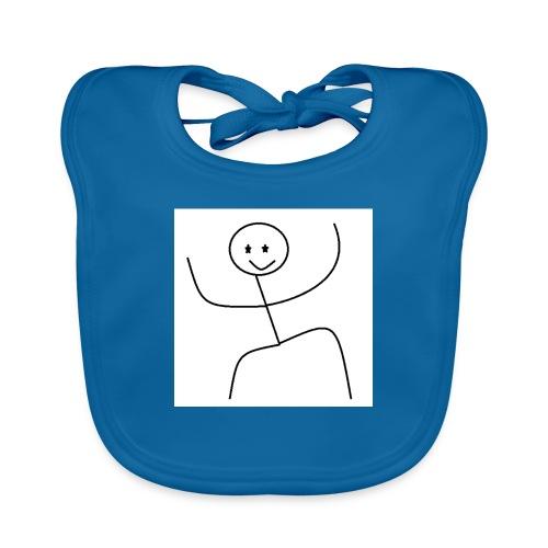 lady t-shirt stick man - Hagesmække af økologisk bomuld