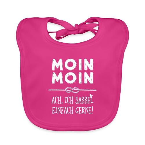 Moin - plattdeutscher norddeutscher Spruch - Baby Bio-Lätzchen