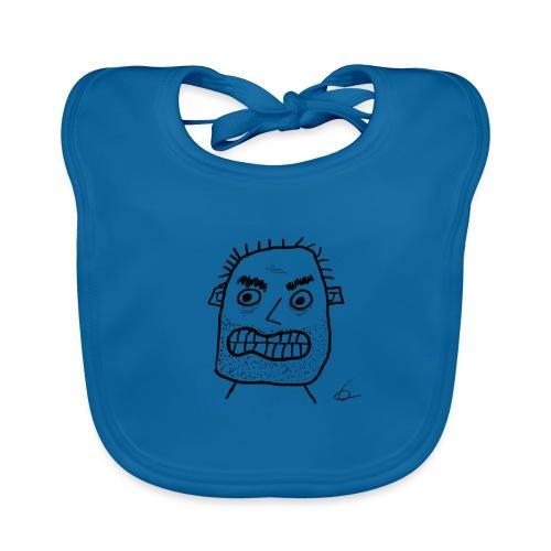 Vit T-shirt Gubben - Ekologisk babyhaklapp
