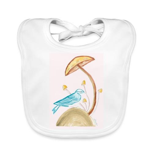 fungo con uccello - Bavaglino ecologico per neonato