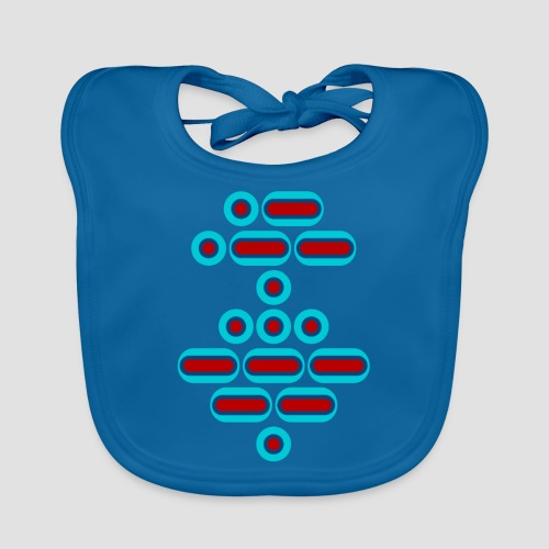 AWESOME (red/blue) - Baby Organic Bib