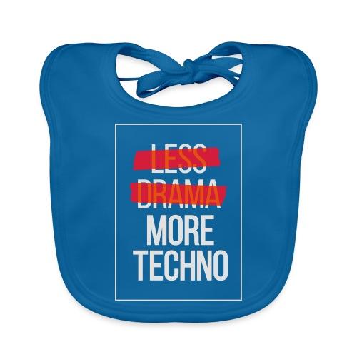 Less drama, more techno - Baby Organic Bib