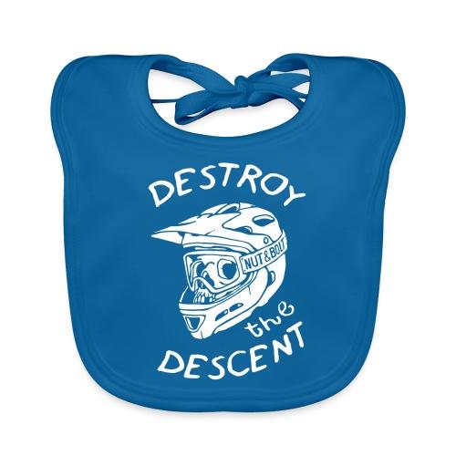 Destroy the Descent - Downhill Mountain Biking - Baby Organic Bib