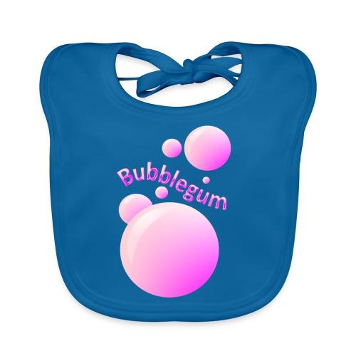 bubblegum glansig text och stora rosa bubblor - Baby Organic Bib