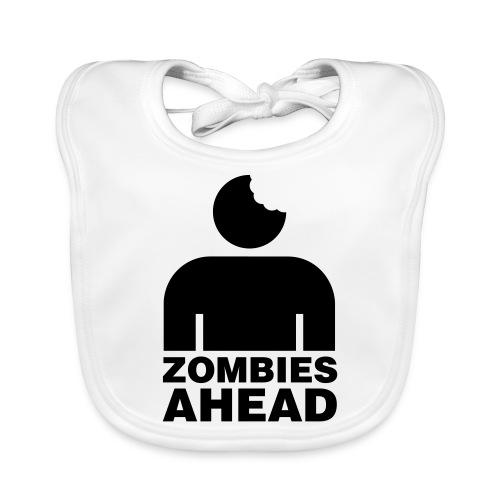 Zombies Ahead - Ekologisk babyhaklapp