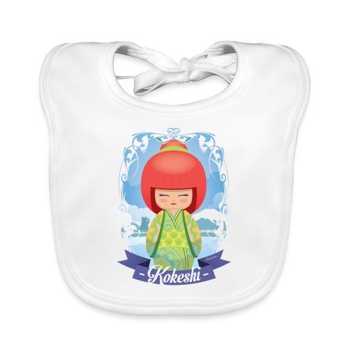 Kokeshi mod. 5 - Bavaglino ecologico per neonato