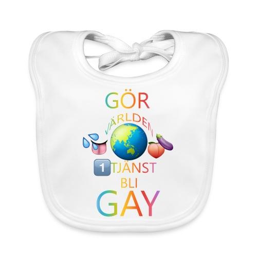 Gör Världen En Tjänst, Bli Gay LBGTQ+ - Ekologisk babyhaklapp