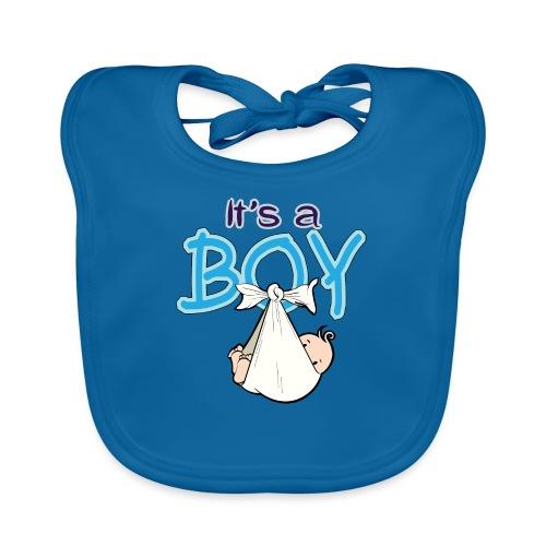 Babyshower Boy Blauw - Bio-slabbetje voor baby's