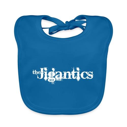 The Jigantics - white logo - Organic Baby Bibs