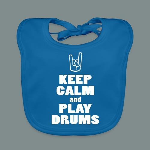 Keep calm and play drums - Bavoir bio Bébé