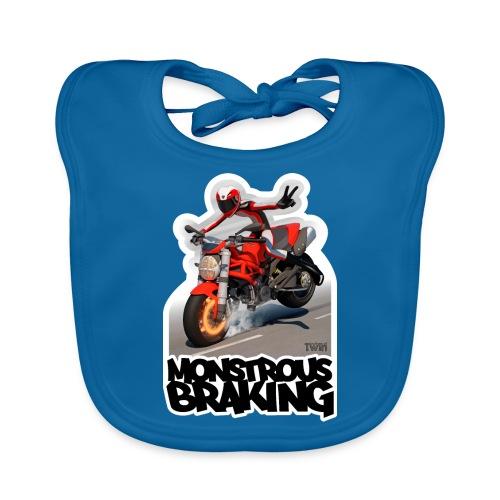 Ducati Monster, a motorcycle stoppie. - Babero ecológico bebé