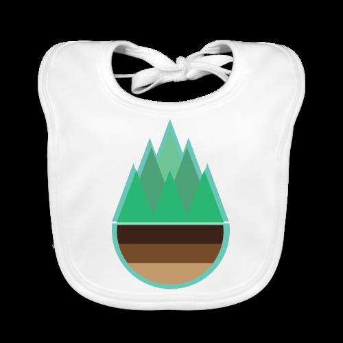 Wald   Natur Baum Erde Bäume - Baby Bio-Lätzchen