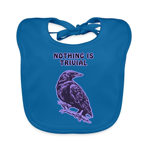 Lilac Crow - Nothing is Trivial - Organic Baby Bibs