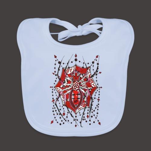 Spider Dentelle Red - Bavoir bio Bébé