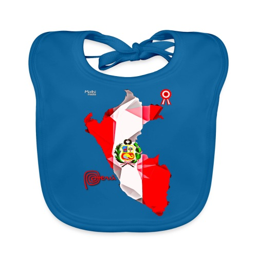 Mapa del Peru, Bandera y Escarapela - Bavoir bio Bébé