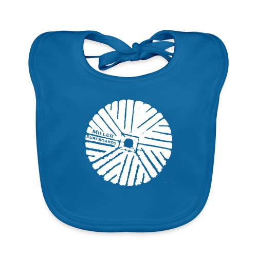 White chest logo sweat - Organic Baby Bibs