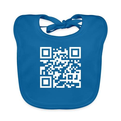 QR Barcode - met je eigen tekst - Bio-slabbetje voor baby's