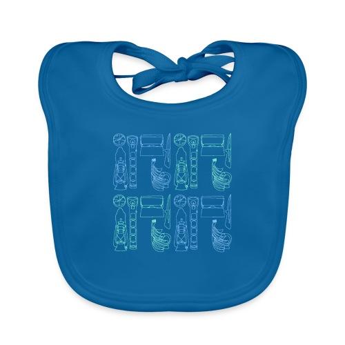 Varusteneliöhuppari - Vauvan luomuruokalappu