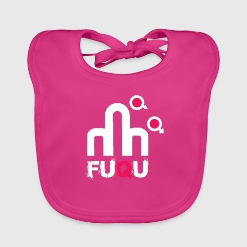 T-shirt FUQU logo colore bianco - Bavaglino ecologico per neonato