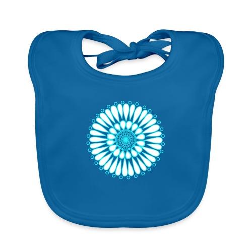 Ice Sunflower Mandala - Baby Organic Bib