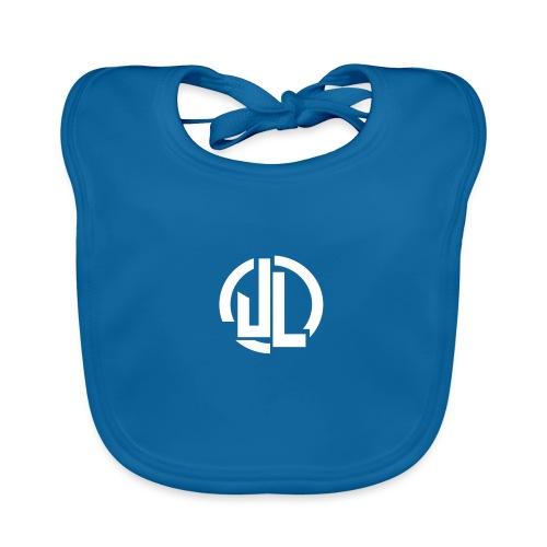 The White JL Logo - Baby Organic Bib