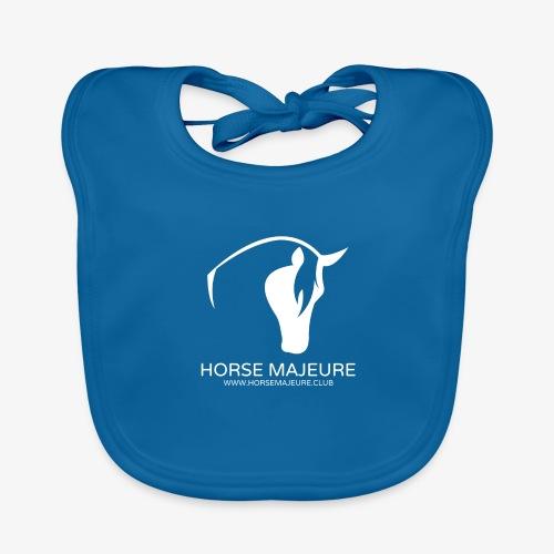 Horse Majeure Logo / Valkoinen - Vauvan luomuruokalappu