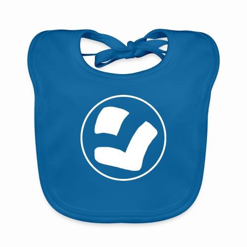 LaidPark White Logo - Vauvan luomuruokalappu