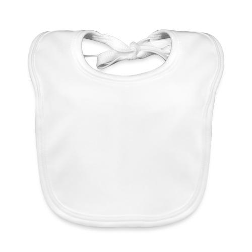 Logo White Basic - Babero de algodón orgánico para bebés