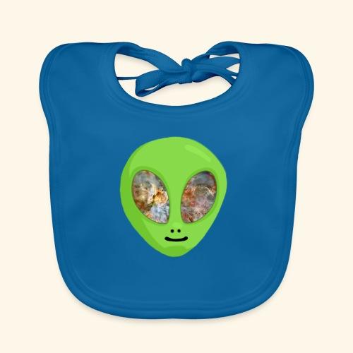 Alien hoofd 1 - Bio-slabbetje voor baby's