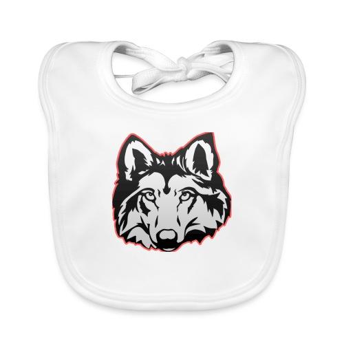 Wolfie (Red) - Baby Organic Bib