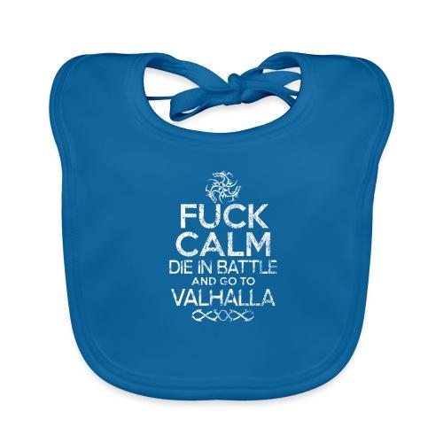 valhalla dragon logo fuck calm - Hagesmække af økologisk bomuld