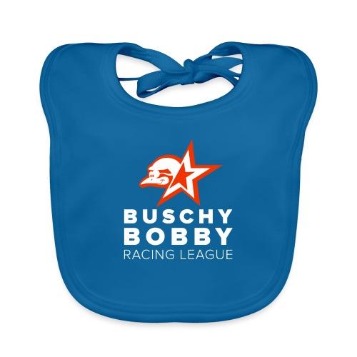 Buschy Bobby Racing League on black - Baby Organic Bib