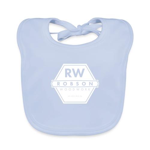 RW Logo In White - Organic Baby Bibs