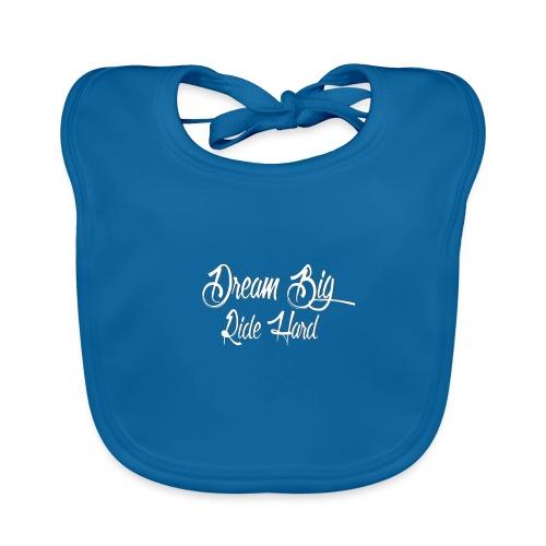 DreamBigRideHard - Babero de algodón orgánico para bebés