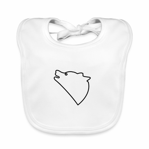 Wolf baul logo - Bio-slabbetje voor baby's