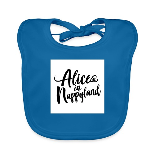 Alice in Nappyland Typography Black 1080 1 - Organic Baby Bibs