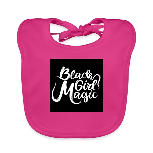 Black Girl Magic 1 White Text - Baby Organic Bib