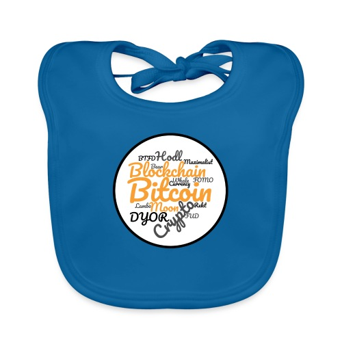 Bitcoin Tag Cloud - Organic Baby Bibs