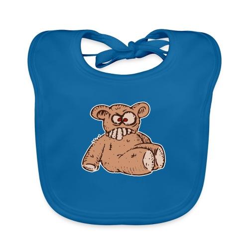 Bad Peluche Crazy Teddy (petit) - Bavoir bio Bébé