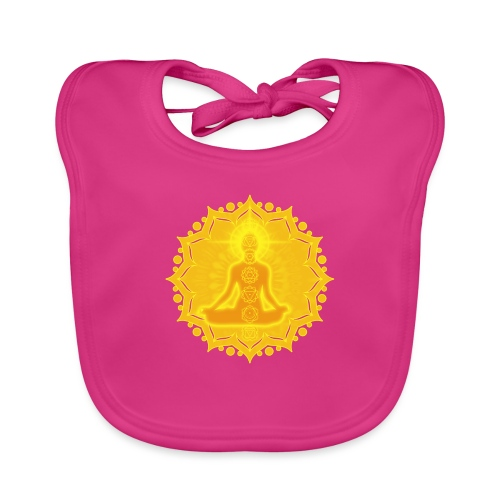 Yoga Lotus Meditation Chakren III - Baby Bio-Lätzchen