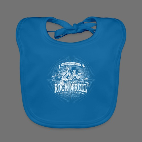 Rock 'n' Roll - Sounds Like Heaven (white) - Baby Organic Bib